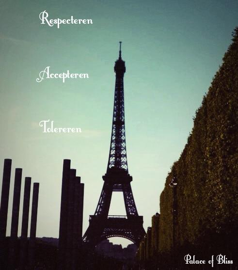 Elkaar respecteren, accepteren en bovenal tolereren
