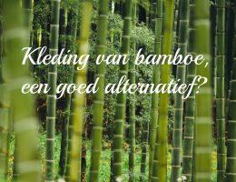 Kleding van bamboe, een duurzaam alternatief?