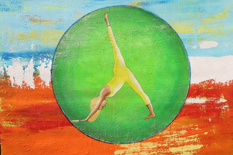 full36096393 - Yogakunst aan de muur door Yoga Art