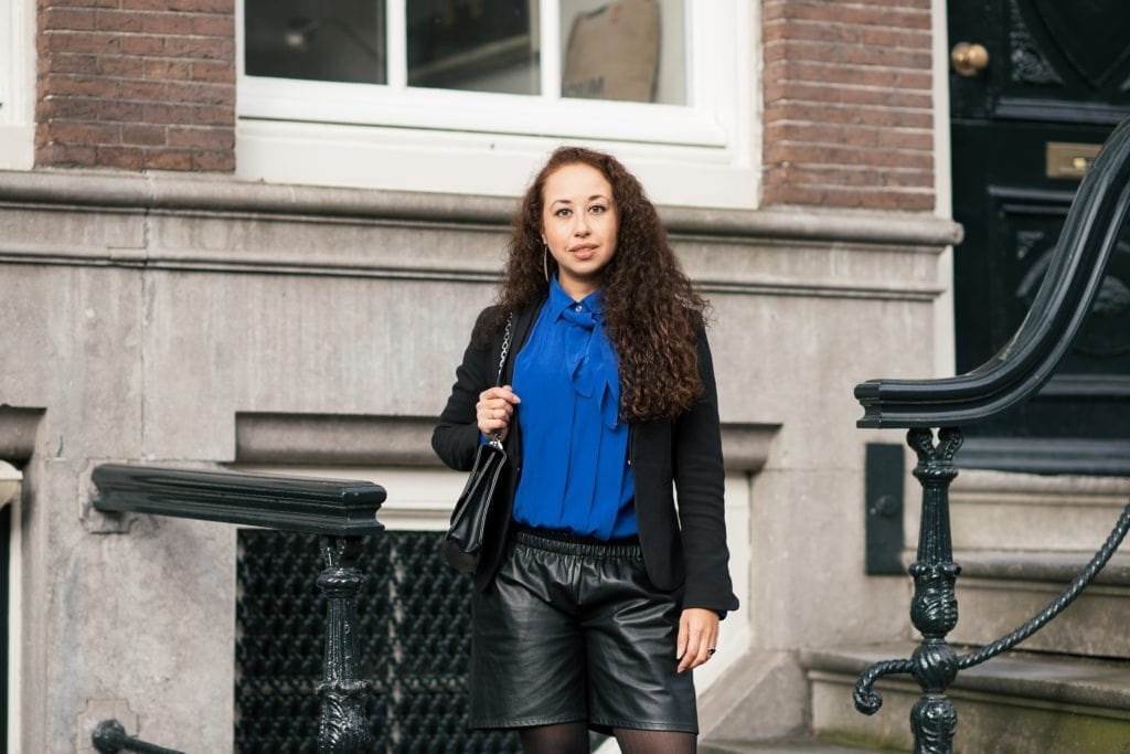 Hailey 12 1 - Fair fashion outfit | Vintage met een leather look