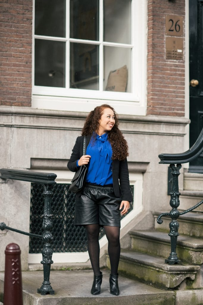 Hailey 14 1 - Fair fashion outfit | Vintage met een leather look