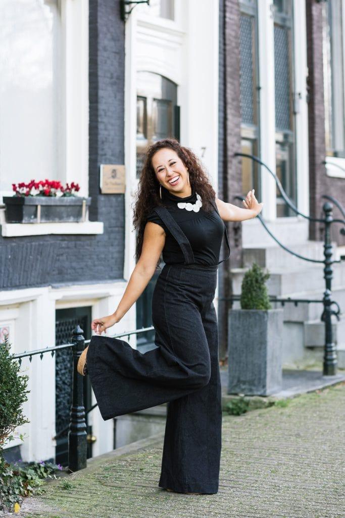 Fair fashion outfit || Ultra wijde broek & Picaflor ketting van ivoorpalm