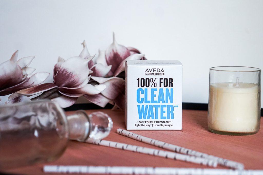 Schoon drinkwater voor iedereen met de Light The Way Kaars van Aveda